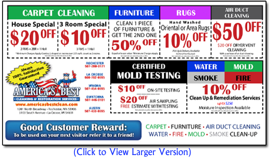 america 39 s best clean coupons rochester mn la crosse wi
